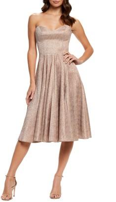 Dress the Population Vivenne Strapless Fit & Flare Dress