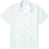 Richard James - Camp-collar Floral-print Cotton-poplin Shirt