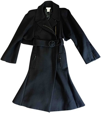Sonia Rykiel Black Wool Coat for Women