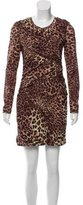 Torn By Ronny Kobo Ruched Leopard Print Dress