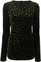 Odeeh leopard sweater - women - Cotton/Polyamide/Viscose - 36