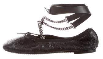 Valentino Rockstud Leather Ballet Flats w/ Tags