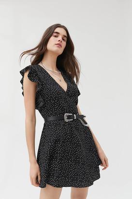 Urban Outfitters Josey Ruffle Mini Wrap Dress