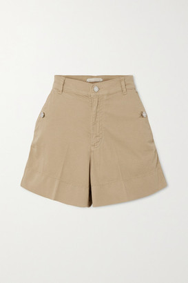 Vanessa Bruno Nixia Cotton-blend Canvas Shorts - Beige
