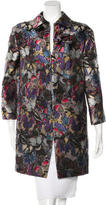 Valentino Silk Camubutterfly Coat