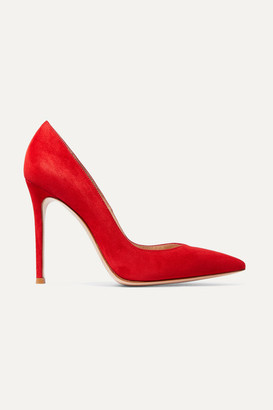 Gianvito Rossi 105 Suede Pumps - Red