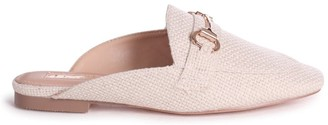 Linzi JAXON - Stone Woven Slip On Loafer Style Mule With Gold Trim