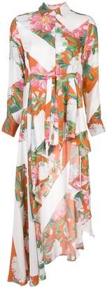 Palmer Harding Long Asymmetric Floral Print Shirt