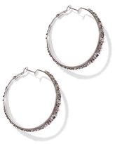 New York & Co. Glittering Hoop Earring