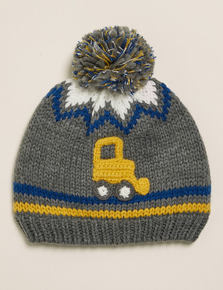 Marks and Spencer Kids' Crochet Digger Winter Hat (1-6 Yrs)