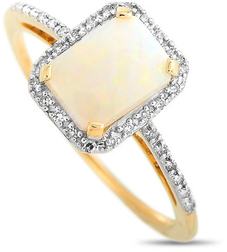 Non Branded Lb Exclusive 14K 0.10 Ct. Tw. Diamond & Opal Ring