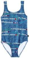 Terez Girls' Bestie Beads Swimsuit - Little Kid, Big Kid