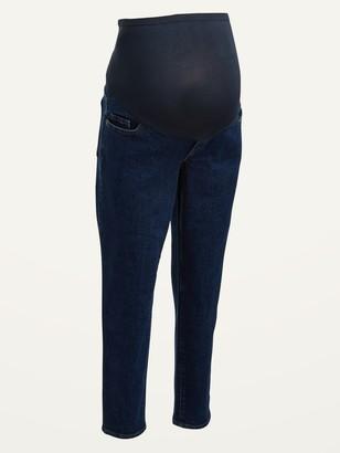 Old Navy Maternity Full Panel O.G. Straight Dark-Wash Jeans