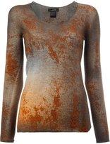 Avant Toi rusty effect jumper - women - Silk/Polyester/Cashmere - M