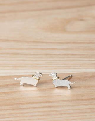 Joules Sausage Dog Stud Earrings