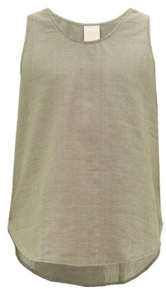 Marrakshi Life - Scoop Hem Cotton-blend Tank Top - Mens - Green