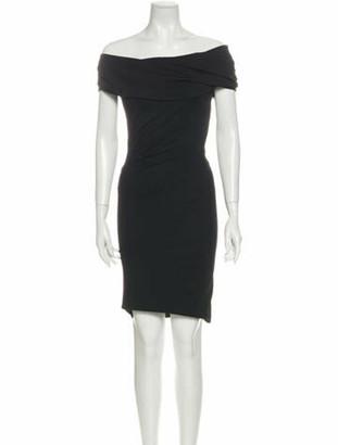 Donna Karan Off-The-Shoulder Knee-Length Dress w/ Tags Black