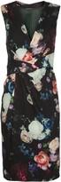 ADAM by Adam Lippes rose-print twisted-waist dress