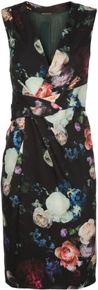 Adam Lippes Rose-Print Twisted-Waist Dress