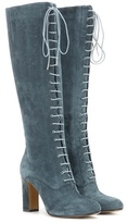 Etro Suede Lace-up Knee Boots