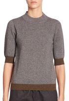 Piazza Sempione Elbow-Length Ribbed Cashmere Sweater