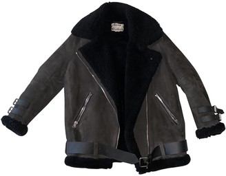 Acne Studios Velocite Black Suede Leather jackets