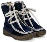 Pépé shearling-lined contrast-trim ankle boots