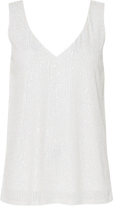 Wallis Ivory Sequin Camisole Top