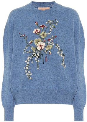 Brock Collection Rimmel embroidered wool and cashmere sweater