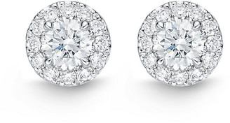 Memoire 14K 0.75 Ct. Tw. Diamond Halo Classics Earrings