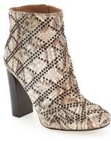 Calvin Klein 'Jamine' Metallic Snake Embossed Bootie (Women)