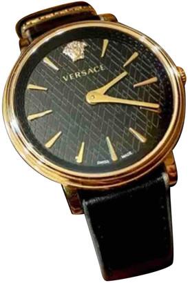 Versace Black Steel Watches