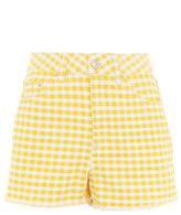 Topshop Moto gingham mom shorts