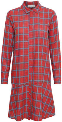Hunter Denim Frankie red checked shirt dress - 34 | cotton | red - Red/Red