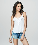 Prince & Fox Solid Ruffle Cropped Tank
