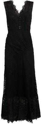 Self-Portrait Embellished Lace Midi Dress