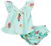 Jessica Simpson Floral Printed Tank & Bloomer Set (Baby Girls)