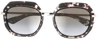 Emmanuelle Khanh Oversized Tortoiseshell Sunglasses