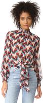 Nicholas N Retro Petal Tie Front Blouse