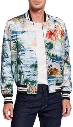 Valentino Men's Tropical-Print Bomber Jacket