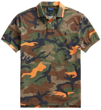 Polo Ralph Lauren Custom Slim-Fit Basic Mesh Camo Polo