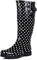Spylovebuy Flat Festival Wellies Wellington Knee High Rain Boots Yellow US 9