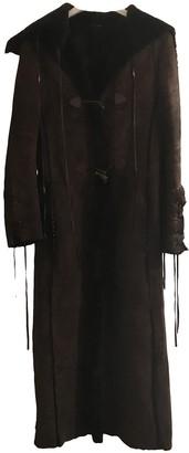 Patrizia Pepe Brown Shearling Coat for Women