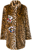 Blugirl embellished faux fur coat