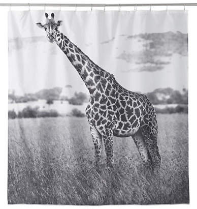 Famous Home Fashions Nairobi Giraffe Shower Curtain