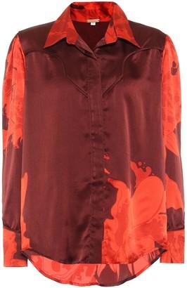 Johanna Ortiz Un Lugar Secreto printed silk shirt