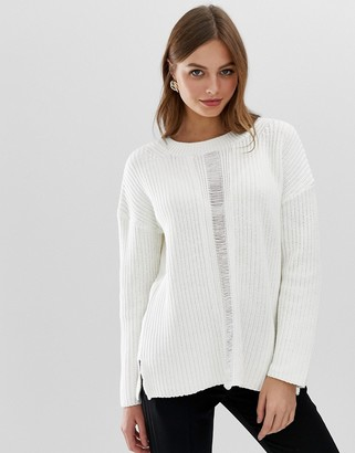French Connection high neck mozart knit-White
