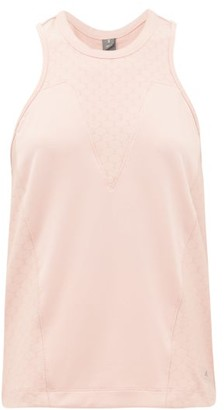adidas by Stella McCartney Honeycomb Mesh-panelled Tank Top - Womens - Light Pink