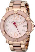 Betsey Johnson Women's BJ00459-04 Analog Display Quartz Rose Gold Watch
