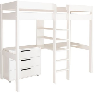 High Sleeper with Desk and Draws